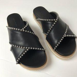 Zara | Studded Slides Flats